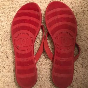 ddf631fafffd01 CHANEL Shoes - Chanel Calfskin Quilted Leather Thong Flip Flops